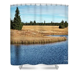 Dead Pond In Ore Mountains Shower Curtain by Michal Boubin