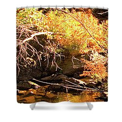 2 Of 6 Dead River Falls  Marquette Michigan Section Shower Curtain