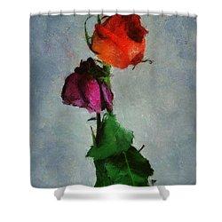 Shower Curtain featuring the digital art Dead Roses by Francesa Miller