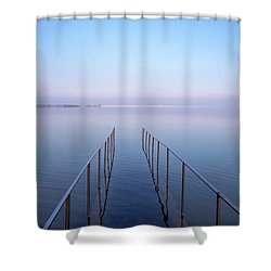 Shower Curtain featuring the photograph The Dead Sea by Yoel Koskas