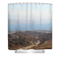 Dead Sea-israel Shower Curtain by Denise Moore