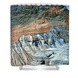 Dead Sea Scroll Caves Shower Curtain