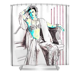 Deadly Diva, Mata Hari -- Portrait Shower Curtain
