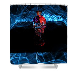 Deadly Drinks Shower Curtain by Roddy Atkinson