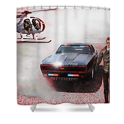 Deadly Pursuit Shower Curtain