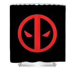 Deadpool Shower Curtain by Caio Caldas