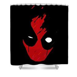 Deadpool Shower Curtain by Kyle J West