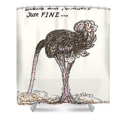 Shower Curtain featuring the drawing Dealing Just Fine by Denise Fulmer