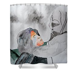 Dean Deleo - Stone Temple Pilots - Music Inspiration Series Shower Curtain by Carol Crisafi