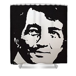Dean Martin Loving Life Shower Curtain by Robert Margetts