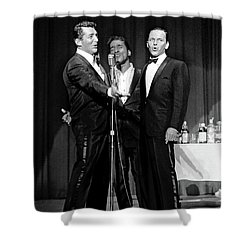 Dean Martin, Sammy Davis Jr. And Frank Sinatra. Shower Curtain