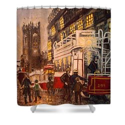 Deansgate With Tram Shower Curtain