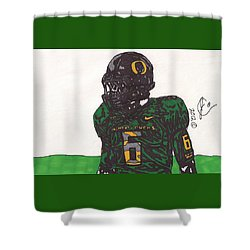 De'anthony Thomas 2 Shower Curtain by Jeremiah Colley