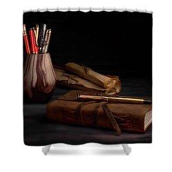 Dear Diary Shower Curtain