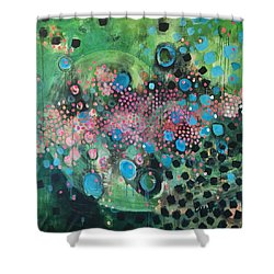 Shower Curtain featuring the painting Dear Sugar A Pocket Of Delights by Laurie Maves ART