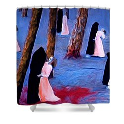 Death And The Maidens Shower Curtain