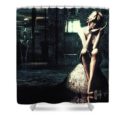 Death Is A Poet Shower Curtain by Bob Orsillo