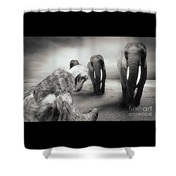 Shower Curtain featuring the photograph Death List by Christine Sponchia