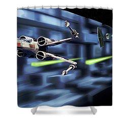 Death Star Trench Battle Shower Curtain