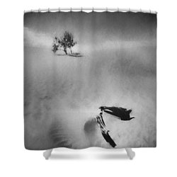 Death Valley 1990 Shower Curtain by Scott Norris