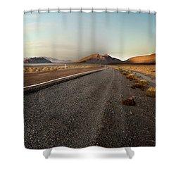 Death Valley Hitch Hiker Shower Curtain