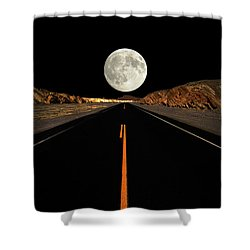 Death Valley Moon Rise Shower Curtain