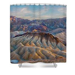 Death Valley Palette  Shower Curtain