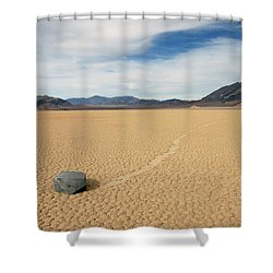 Shower Curtain featuring the photograph Death Valley Ractrack by Breck Bartholomew