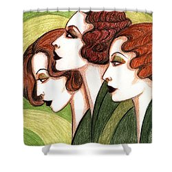 Debutante Trio Shower Curtain