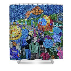 Decatur Lantern Parade Shower Curtain by Micah Mullen