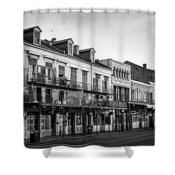 Decatur Street New Orleans In Black And White Shower Curtain