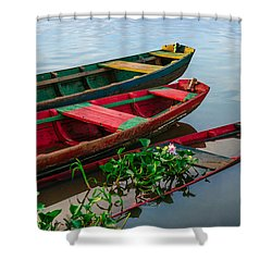 Decaying Boats Shower Curtain