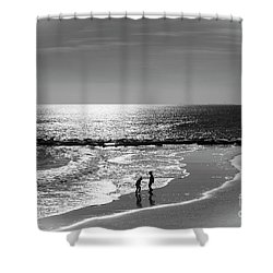 December At The Jersey Shore Shower Curtain