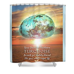 December Birthstone Turquoise Shower Curtain