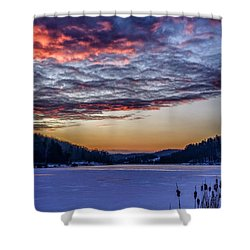 December Dawn On The Lake Shower Curtain