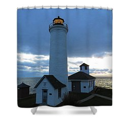 December Light, Tibbetts Point  Shower Curtain