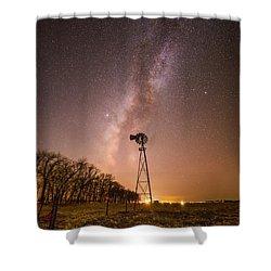 December Night  Shower Curtain
