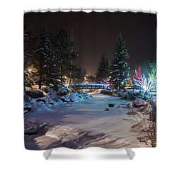December On The Riverwalk Shower Curtain