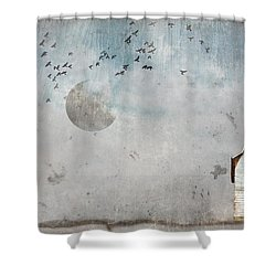 December Original Photo Manipulation  Shower Curtain