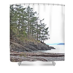 Deception Pass In Late December  Shower Curtain by Tobeimean Peter