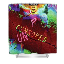Shower Curtain featuring the digital art Decisions No. 2 by Paula Ayers