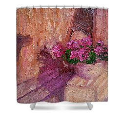 Deck Flowers #2 Shower Curtain by Brian Kardell