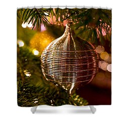 Deck The Halls Shower Curtain by Derek Dean