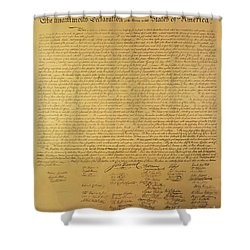 Declaration Of Independence Shower Curtain by American School