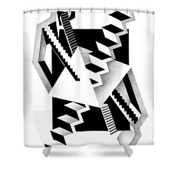 Decline And Fall 3 Shower Curtain