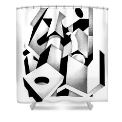 Decline And Fall 6 Shower Curtain