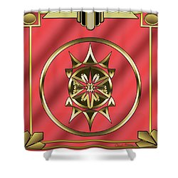 Shower Curtain featuring the digital art Deco 26 - Chuck Staley by Chuck Staley