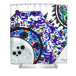 Deco Cogs Shower Curtain