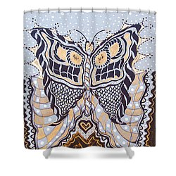 Deco Face Shower Curtain