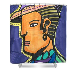 Shower Curtain featuring the painting Deco Gitano by Don Koester